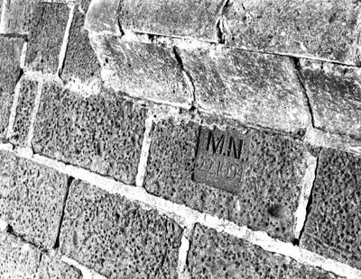Sea wall Brighton-Initialed bluestone block from old Melbourne Gaol