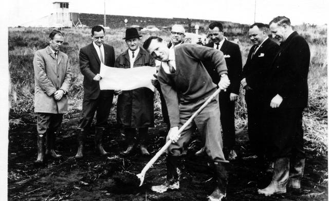 Turning of sod - Olympic swimming pool, East Coburg