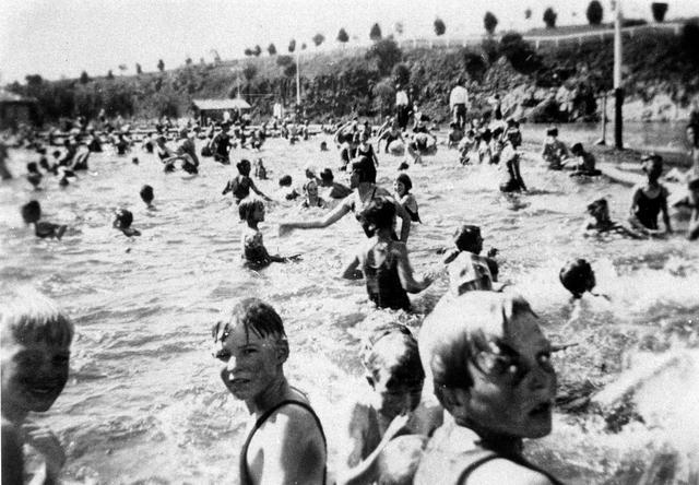 swimming at Coburg Lake Reserve