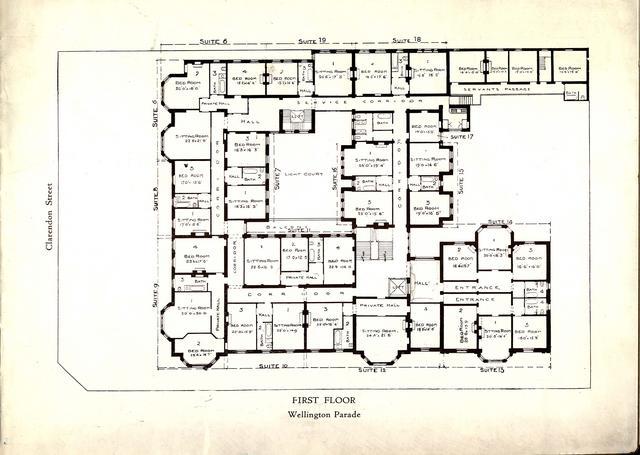 East Melbourne Ca 1925 30 Cliveden Mansions Brochure Plan Of