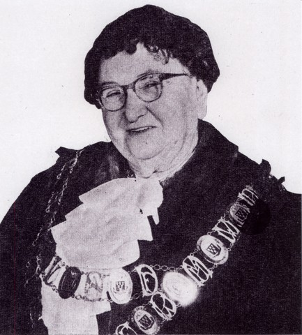 Marie Dalley in Mayoral Robes