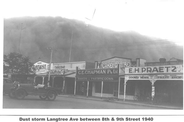 Dust Storm Langtree Ave Between 8th & 9th St 1940 Mildura
