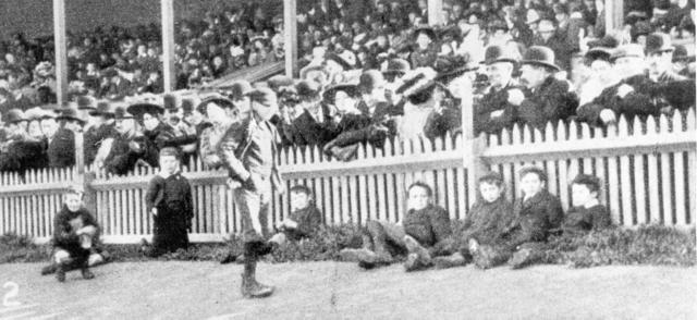 Crowd at Brunswick Football Ground