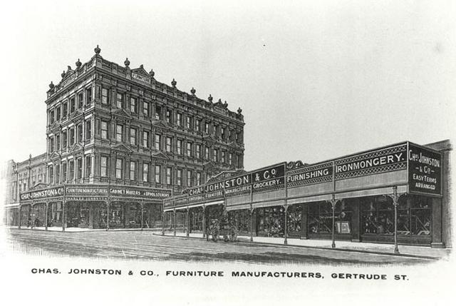 Fitzroy 1905 Chas Johnston Co Furniture Manufacturers Gertrude Street Fitzroy